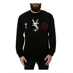 Black Scale Mens The VS LS Graphic T-Shirt