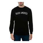 Black Scale Mens The Blvck America LS Graphic T-Shirt