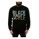 Black Scale Mens The Mi Amor LS Graphic T-Shirt