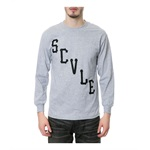 Black Scale Mens The Scvle Logo LS Graphic T-Shirt