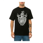Black Scale Mens The Knighted Crest Graphic T-Shirt