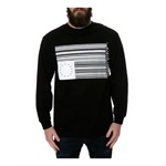 Black Scale Mens The Barcode Rebel Flag LS Graphic T-Shirt
