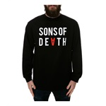 Black Scale Mens The Sons Of Death LS Graphic T-Shirt