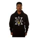 Black Scale Mens The Mona's Traditional Interlock Logo Hoodie Sweatshirt