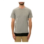 DOPE Mens The Leather Paneled Embellished T-Shirt