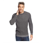 Tasso Elba Mens Vertical Striped Crew Pullover Sweater