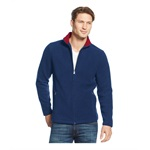 Club Room Mens FZ Mock Neck Fleece Jacket