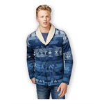 American Rag Mens Log Cabin Shawl Knit Sweater