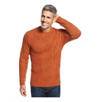 Tasso Elba Mens Wool-Blend Textured Pullover Sweater
