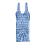 Aeropostale Womens Stripe Lacy Strap Tank Top