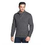 Tasso Elba Mens Solid Quarter-Zip Sweatshirt