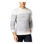 Tasso Elba Mens Fair-Isle Crew Pullover Sweater