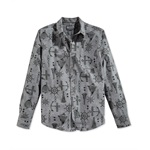 American Rag Mens Nautical Print Button Up Shirt