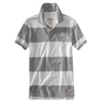 Aeropostale Mens Thick Stripe Rugby Polo Shirt