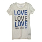 Ecko Unltd. Womens Love Glitter Graphic T-Shirt