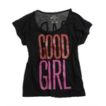 Ecko Unltd. Womens Good Girl Bad Girl Graphic T-Shirt