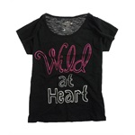 Ecko Unltd. Womens Glittery Wild At Heart Graphic T-Shirt