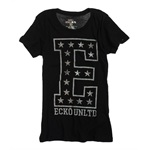 Ecko Unltd. Womens E Foil Crew Neck Graphic T-Shirt