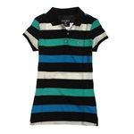 Ecko Unltd. Womens Stripe Pique Short Sleeve Polo Shirt