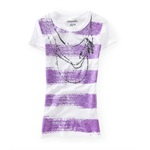 Aeropostale Womens Necklace Graphic T-Shirt