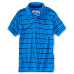 Aeropostale Mens Stripe Rugby Polo Shirt