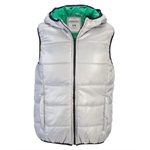 Aeropostale Mens Full Zip Lightweight Hooded Puffer Vest