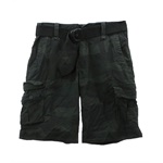 Aeropostale Mens Dark Camo Erngth Belted Casual Cargo Shorts