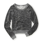Aeropostale Womens Floral Print Knit Sweater