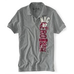 Aeropostale Mens Aero Nyc 1987 Jersey Rugby Polo Shirt