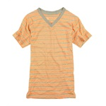 Marc Ecko Mens Cut & Sew Stripe Neon V-neck Stripe Basic T-Shirt