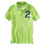 Aeropostale Mens Surf Trials Rugby Polo Shirt