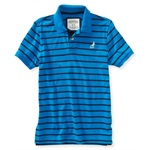Aeropostale Mens Pigeon Stripes Rugby Polo Shirt