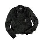 Ecko Unltd. Womens Pu Jkt Pleather Motorcycle Jacket