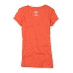 Ecko Unltd. Womens Solid Color Slub V-neck Basic T-Shirt
