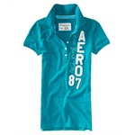 Aeropostale Womens Aero 87 Polo Shirt