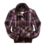 Aeropostale Womens Plaidlined Field Jacket