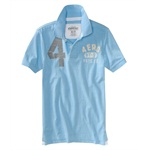 Aeropostale Mens Solid Rugby Polo Shirt