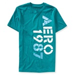 Aeropostale Mens Vert Puff Paint Graphic T-Shirt