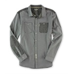 Marc Ecko Mens Utility Ox Ls Button Up Shirt