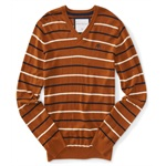 Aeropostale Mens Stripe A87 Knit Sweater