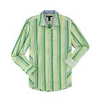 I-N-C Mens Striped Button Up Shirt